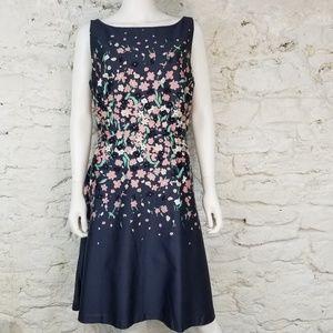 Loft Floral Sleeveless Dress
